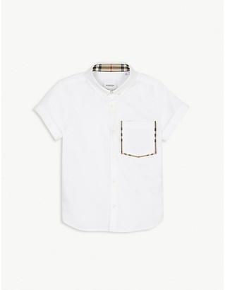 Burberry Vintage check trim cotton shirt 3-14 years