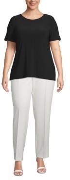 Anne Klein Plus Size Button-Back T-Shirt
