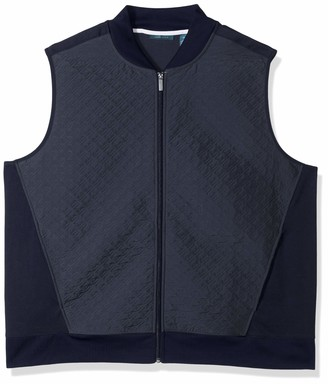 Perry Ellis Men's Big Big & Tall Quilted Zip-Front Vest