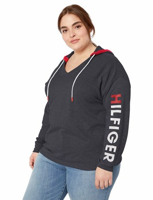 Tommy Hilfiger Tommy Women's Plus Size Retro Style Hoodie Sweatshirt Sweater with Logo