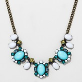 BaubleBar SUGARFIX by Mixed Media Statement Necklace - White