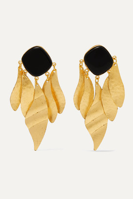 PEET DULLAERT Indra Gold-plated Onyx Earrings - one size