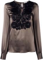 P.A.R.O.S.H. lace front blouse