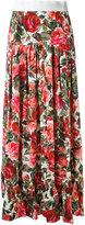 Dolce & Gabbana rose print long skirt - women - Cotton - 40