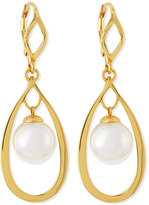 Majorica White Pearl Teardrop Earrings