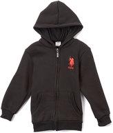 U.S. Polo Assn. Black Zip-Up Hoodie - Boys