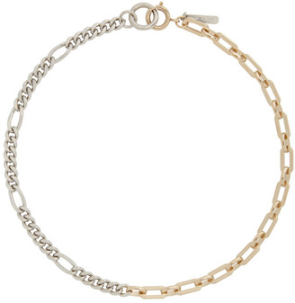 Justine Clenquet Silver and Gold Vesper Necklace