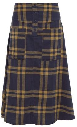 Ace&Jig Maisie Cut-out Pocket A-line Cotton Skirt - Navy Multi