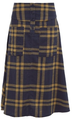 Ace&Jig Maisie Cut-out Pocket A-line Cotton Skirt - Womens - Navy Multi