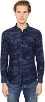 Hydrogen Avocado Camouflage Cotton Denim Shirt