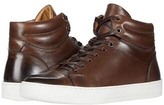 Eleventy Burnish Finish High-Top Sneaker (Brown) Men's Shoes