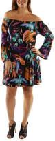 24/7 Comfort Apparel Lush Tropical Drama Drop Waist Dress