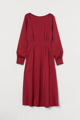 H&M Satin Dress - Red
