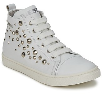 Diesel VAR2 girls's Shoes (High-top Trainers) in White