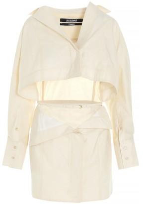 Jacquemus La Robe Terraio Mini Shirt Dress