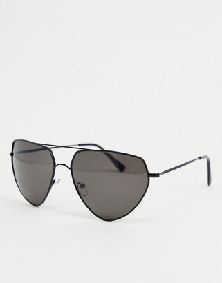 A. J. Morgan AJ Morgan aviator sunglasses in black