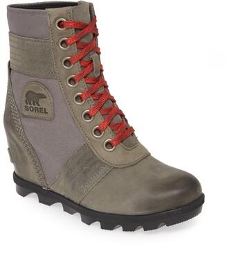 Sorel Lexie Waterproof Leather Wedge Boot