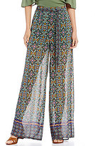 Takara Border-Print Wide-Leg Pants