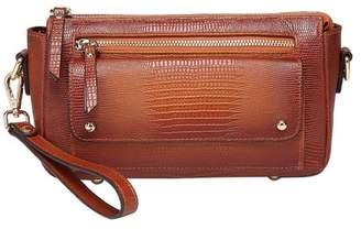 Vicenzo Leather Dara Lizard Embossed Leather Crossbody Bag