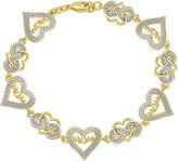 SPARKLE ALLURE Classic Treasures Diamond-Accent Heart Mom Bracelet