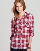 C&C California Shirt – Lurex Plaid Roll Sleeve Pocket