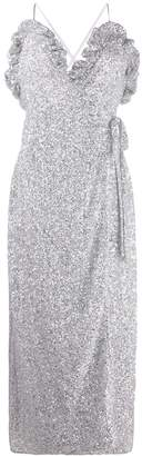 ATTICO The sequined wrap-style cocktail dress