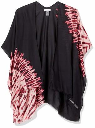 Calvin Klein Women's Tie Dye Print 100% Viscose Lightweight Cover Up