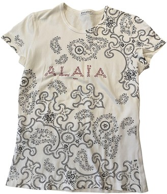 Alaia White Cotton Top for Women Vintage