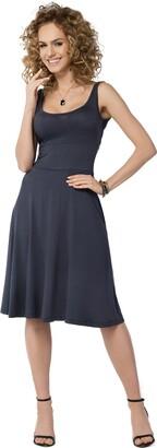 FUTURO FASHION Womens Plain Sleeveless Skater Dress Knee Length Summer Tunic Plus Sizes 8-18 FM19