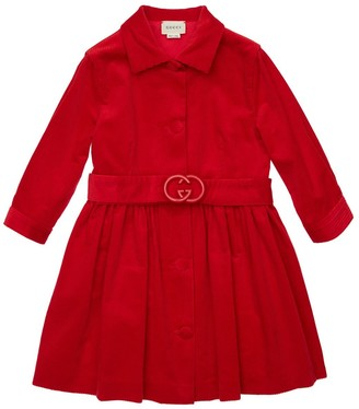 Gucci Corduroy Dress W/ Belt