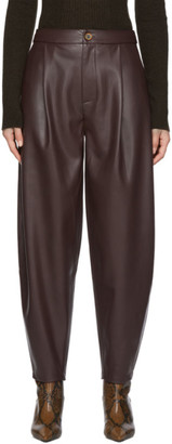 Áeron Purple Faux-Leather Fran Trousers