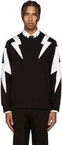 Neil Barrett Black & White Thunderbolt Pullover