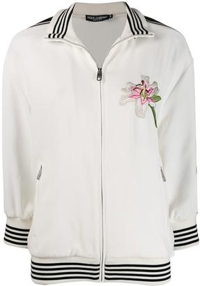 Dolce & Gabbana embroidered logo tape bomber jacket