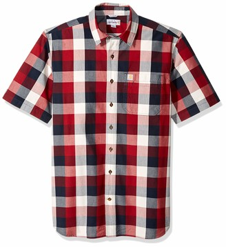 Carhartt Men's Big Big & Tall Essential Plaid Open Collar Short Sleeve Shirt