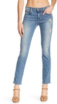 Level 99 High Waist Lightly Distressed Denim Jeans