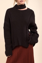 Moon River Asymmetric Destroyed Sweater