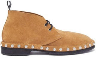 Alexander McQueen Studded Suede Desert Boots - Mens - Brown