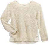 Monteau Ruffle Back Sweater, Big Girls (7-16)