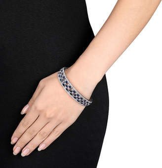 FINE JEWELRY Lab-Created Blue and White Sapphire Sterling Silver Bracelet