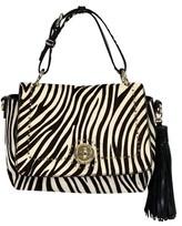 Karen Millen Calf Hair Zebra Print Purse