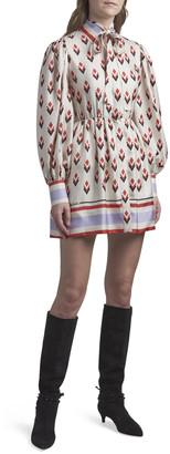 Valentino Long-Sleeve Tie-Waist Dress