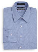 Saks Fifth Avenue Classic-Fit Herringbone Cotton Dress Shirt