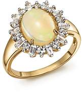 Bloomingdale's Opal Oval Statement Ring with Diamond Halo in 14K Yellow Gold - 100% Exclusive
