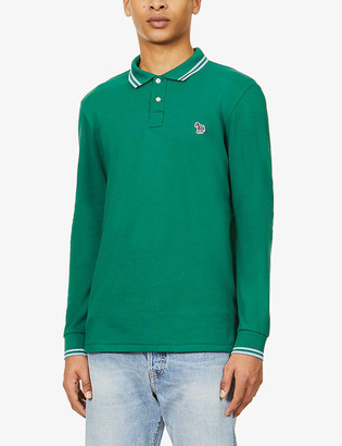 Paul Smith Long-sleeved slim-fit cotton polo top