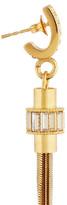 Emilio Pucci Gold-tone crystal tasseled earrings