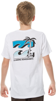 Billabong Kids Boys Killer Wave Tee White