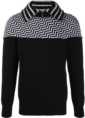 Emporio Armani Chevron Pattern Fleece