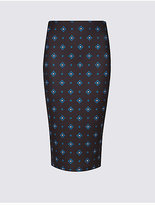 M&S Collection Foulard Print Pencil Midi Skirt