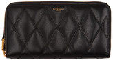 Givenchy Black Quilted Zip Wallet