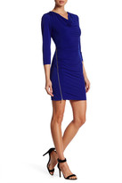 Jessica Simpson Cowl Neck Ruched Dress